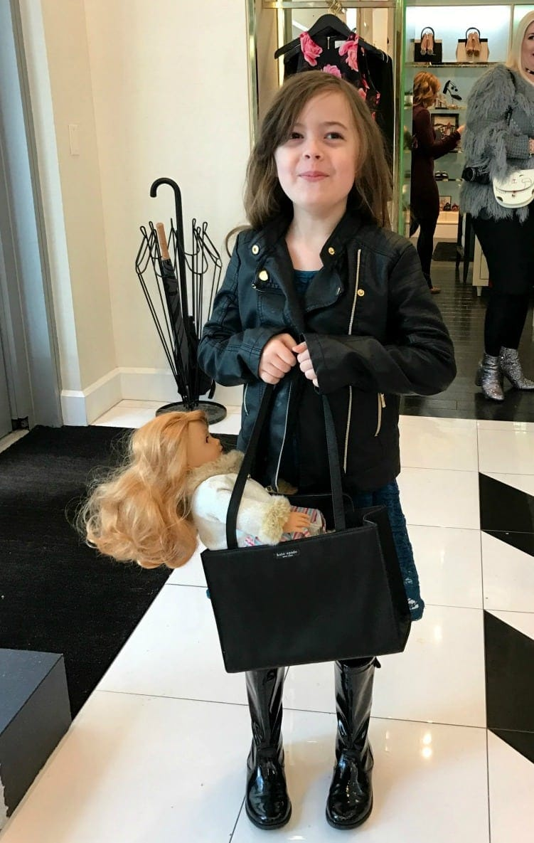 Emerson at Kate Spade in 2017 with my Kate Spade Sam Bag 1