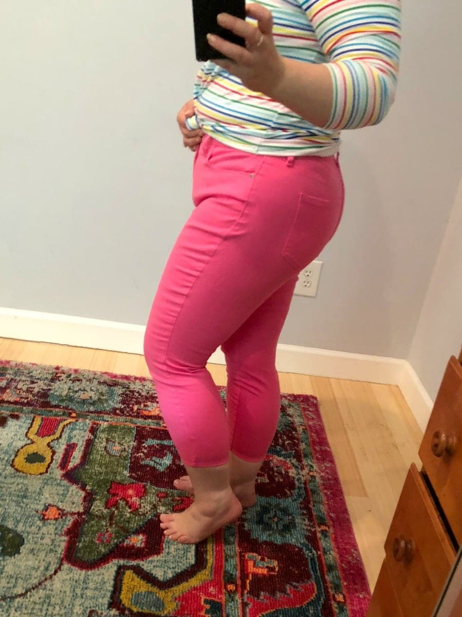 a talbots pink cropped jeans