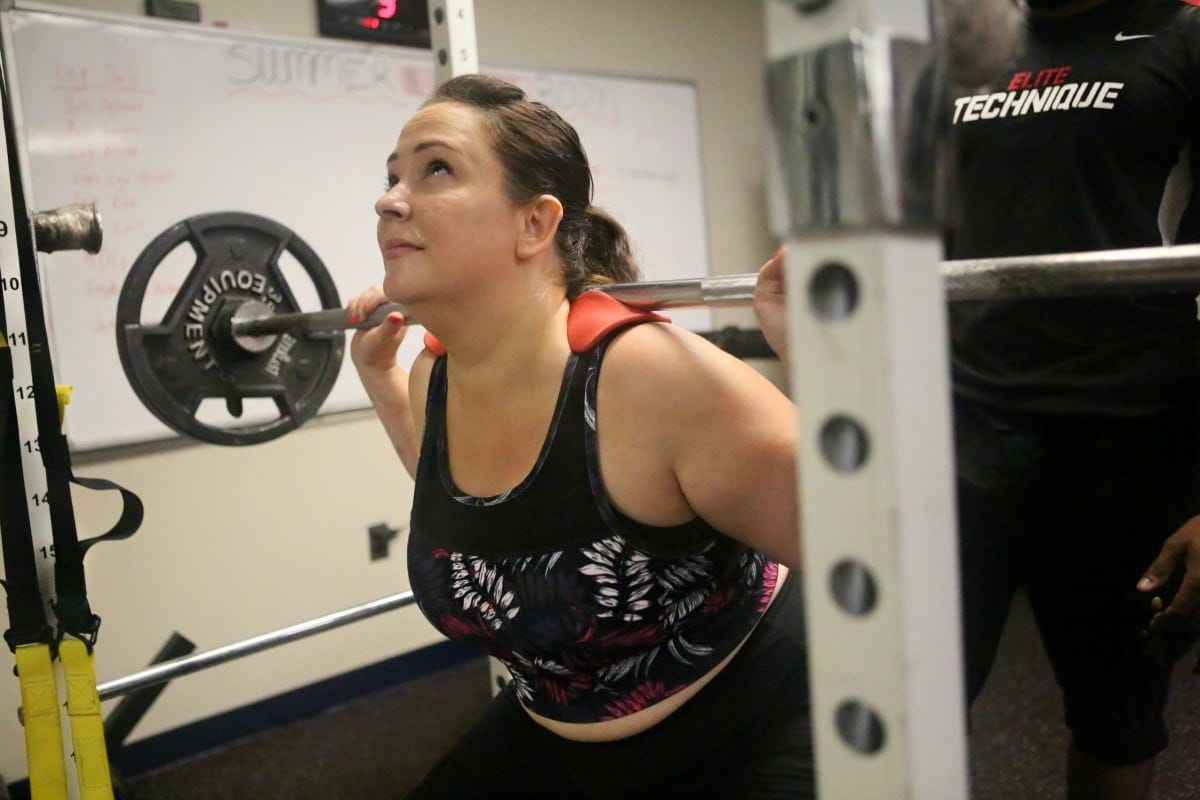 plus size over 40 fitness with wardrobe