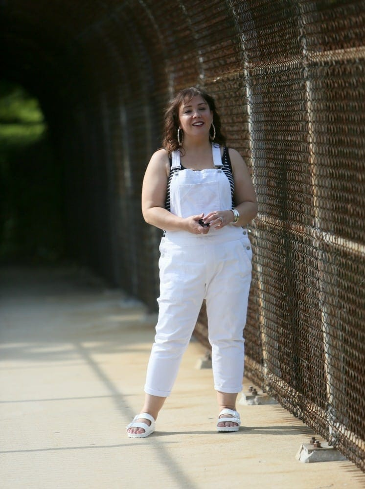 white overalls from gap