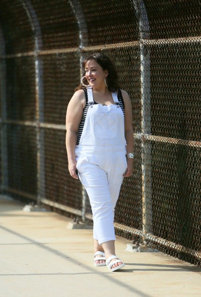 white overalls gap denim