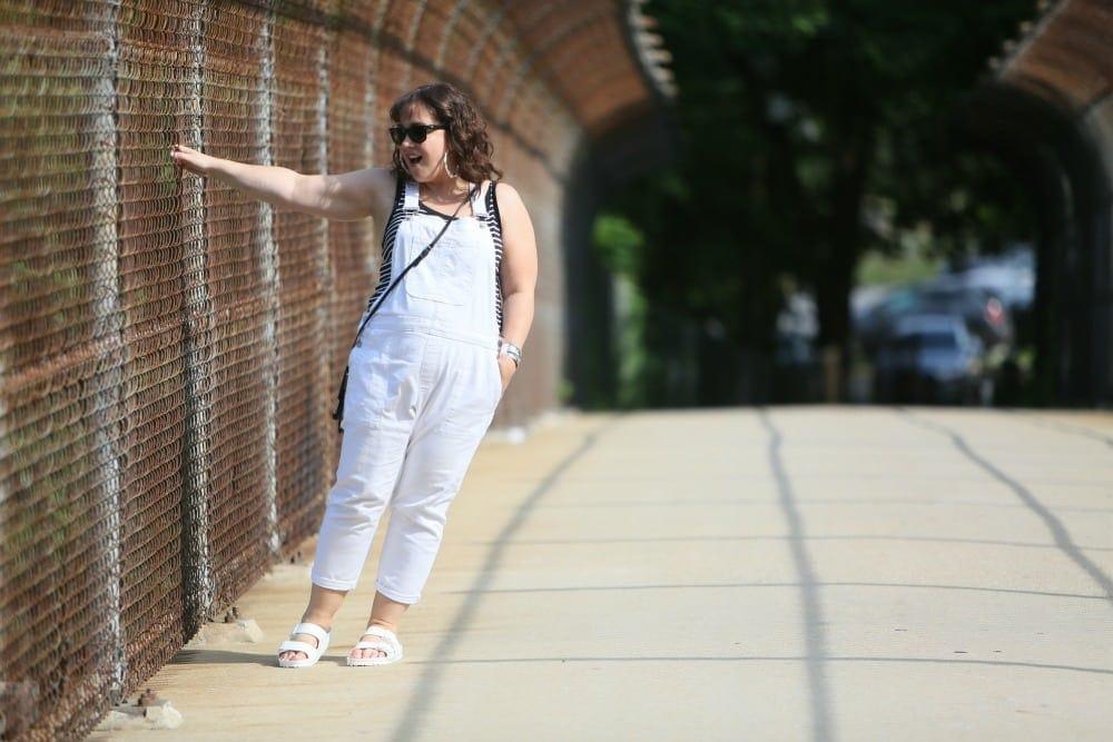white overalls gap
