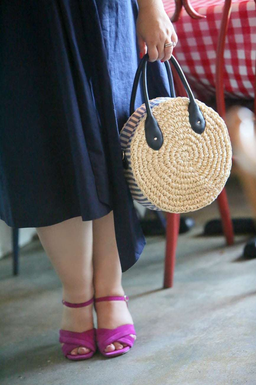 wicker straw circle bag