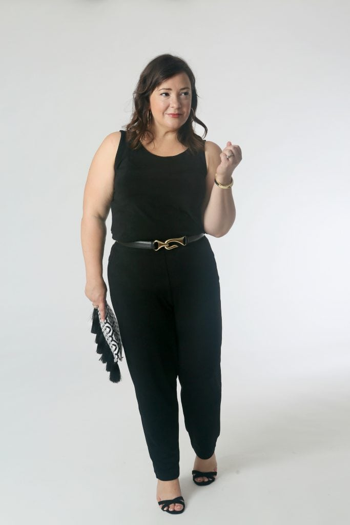 Belt it!: The jumpsuit effect from the previous look, but with the addition of the belt it gives a completely different effect.