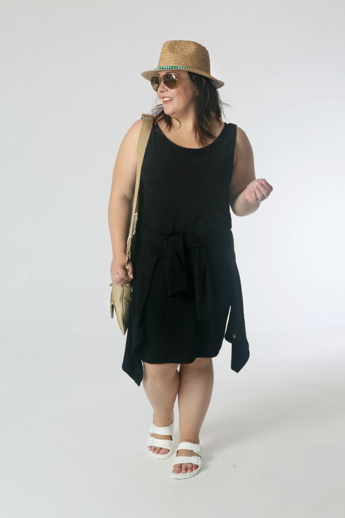 Summer Chic: Tie the cardigan around the waist of the dress to switch up the silhouette while having something warm available in overly air conditioned establishments.