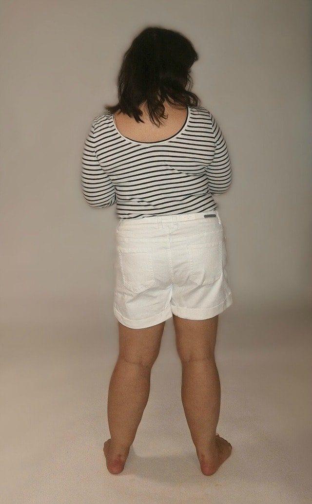 caslon boyfriend shorts back view