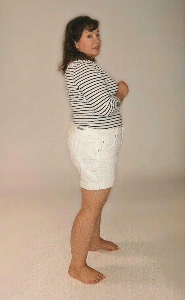 caslon boyfriend shorts side view