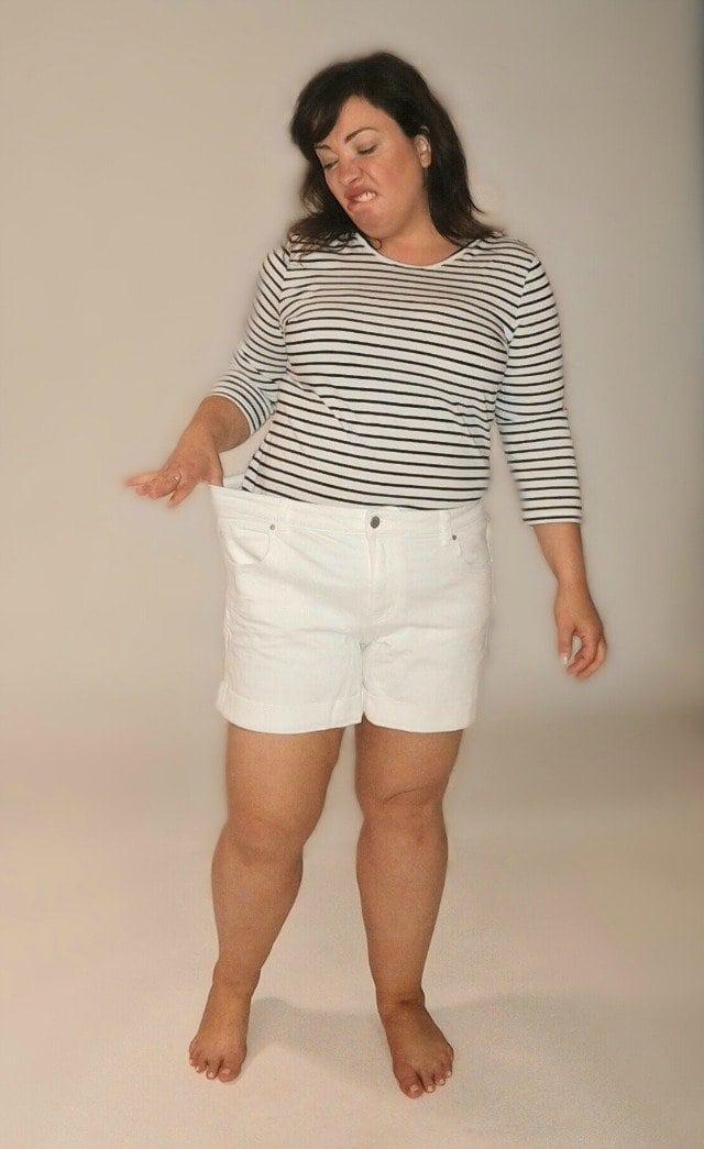 caslon boyfriend shorts too big