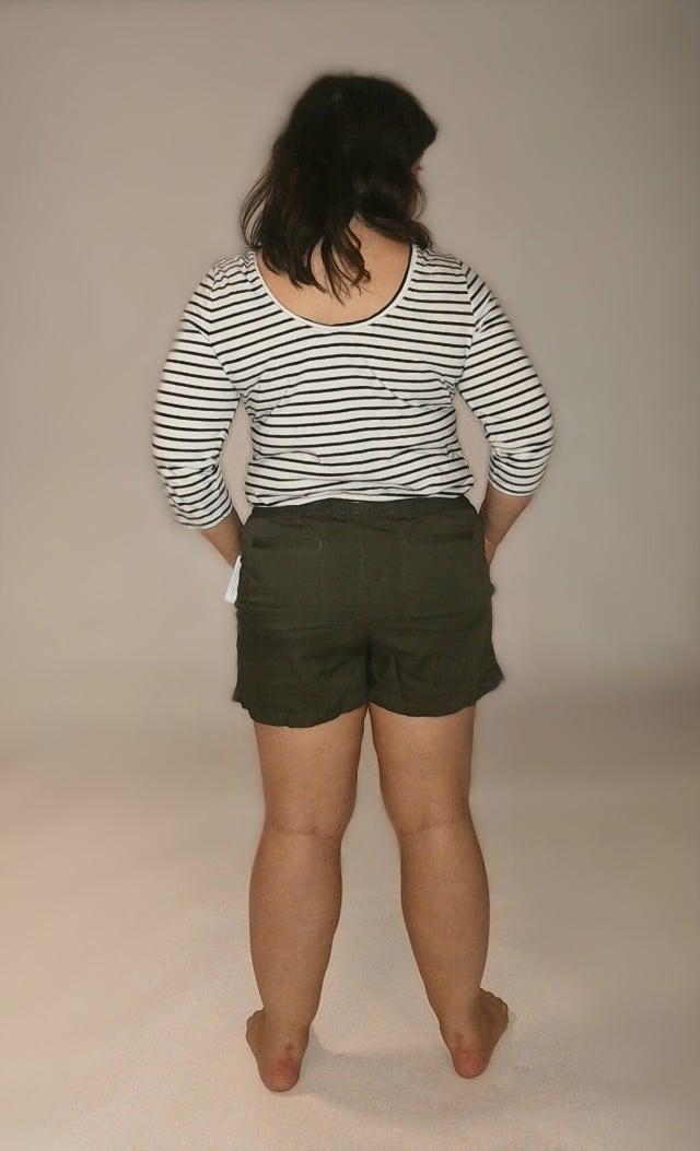 caslon linen shorts back view