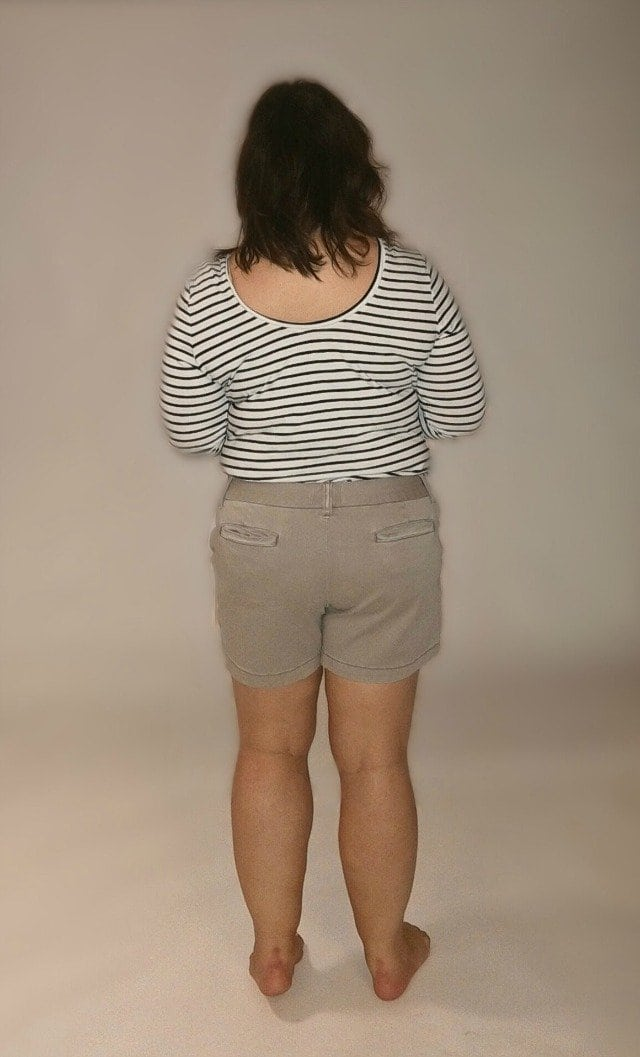 caslon twill shorts back view