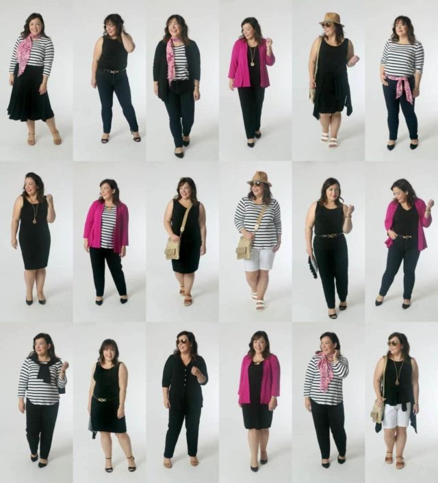 10 pieces of clothing, over 24 looks with Chico's Travelers Collection by Wardrobe Oxygen