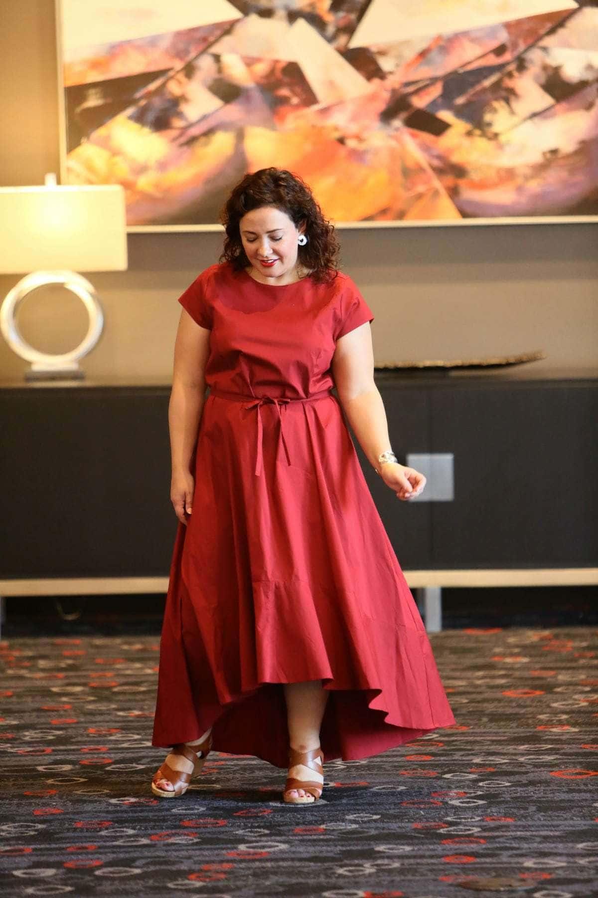 jcrew universal standard red dress