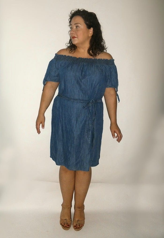 stitch fix chambray dress review