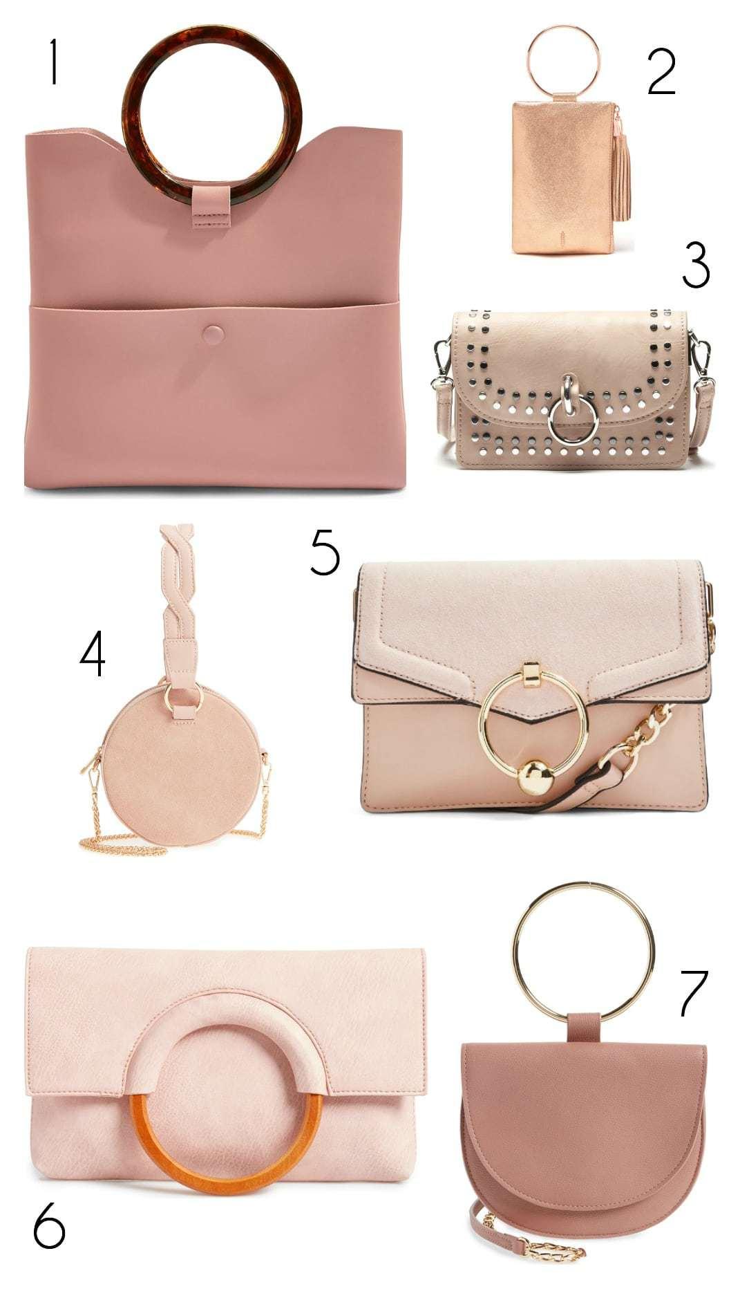 fall 2018 bag trends blush ring handles