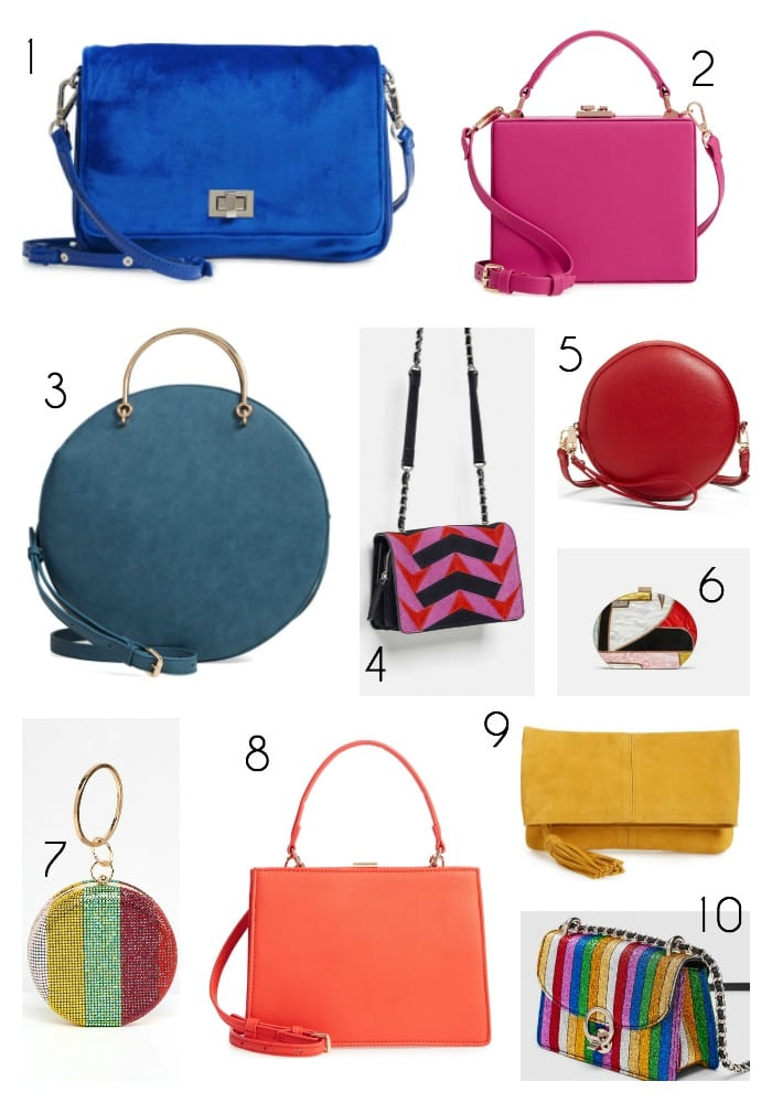fall bag trends 2018 pops of color