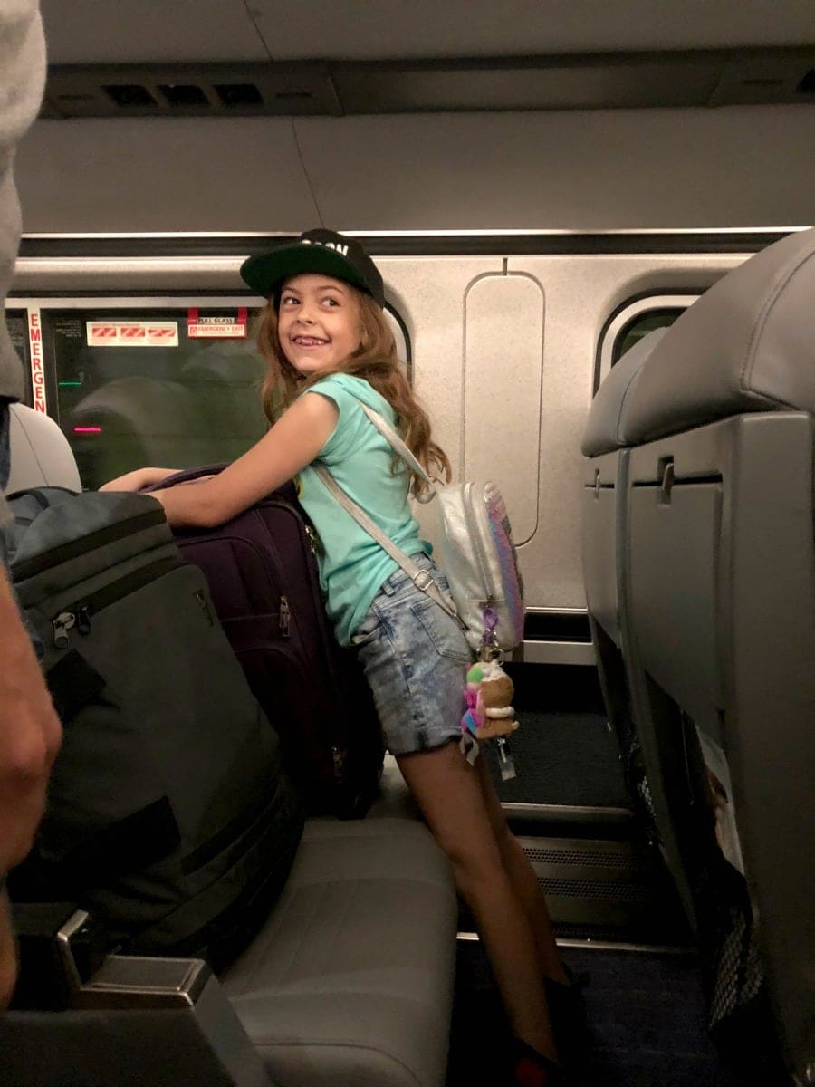 riding on amtrak with children