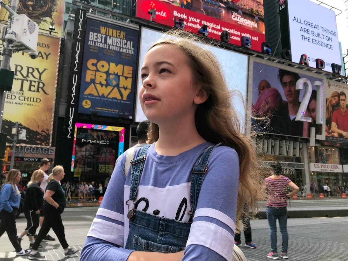 visiting nyc with kids times square