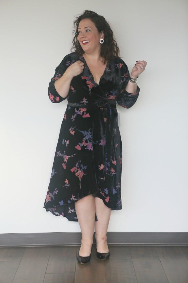 eliza j velvet dress