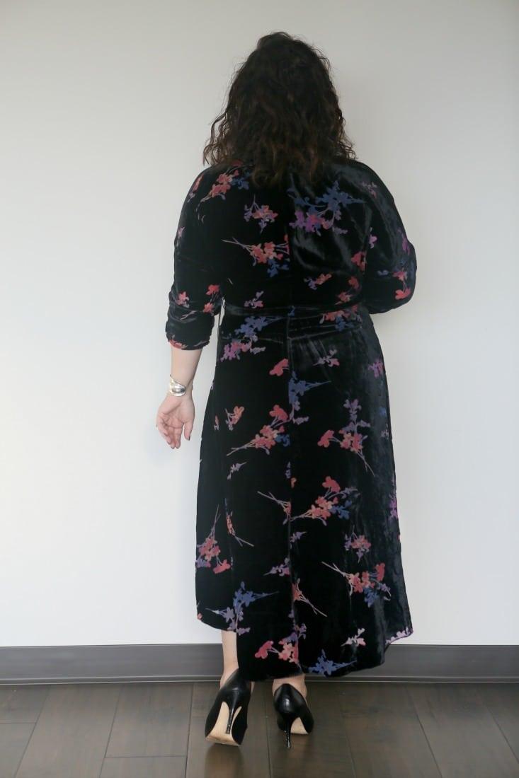eliza j velvet floral dress