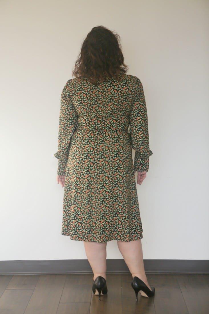 halogen floral wrap dress