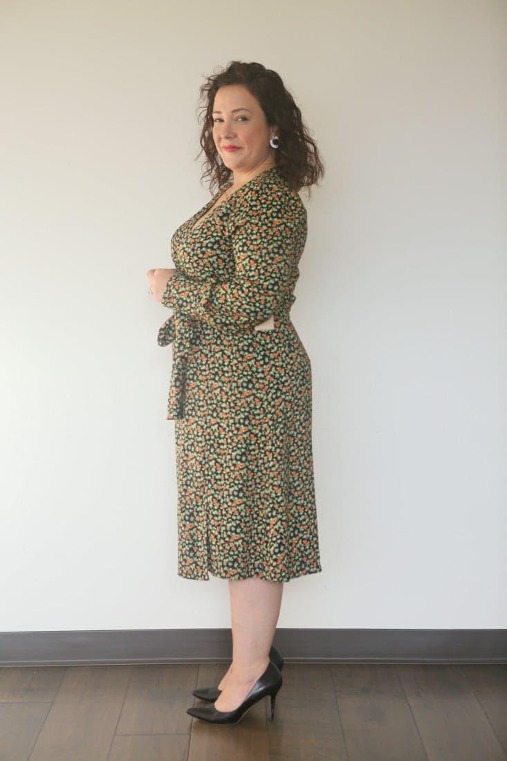 halogen wrap dress review