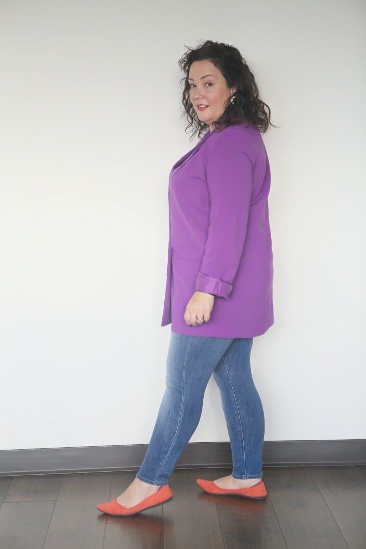 mural oversized blazer in purple