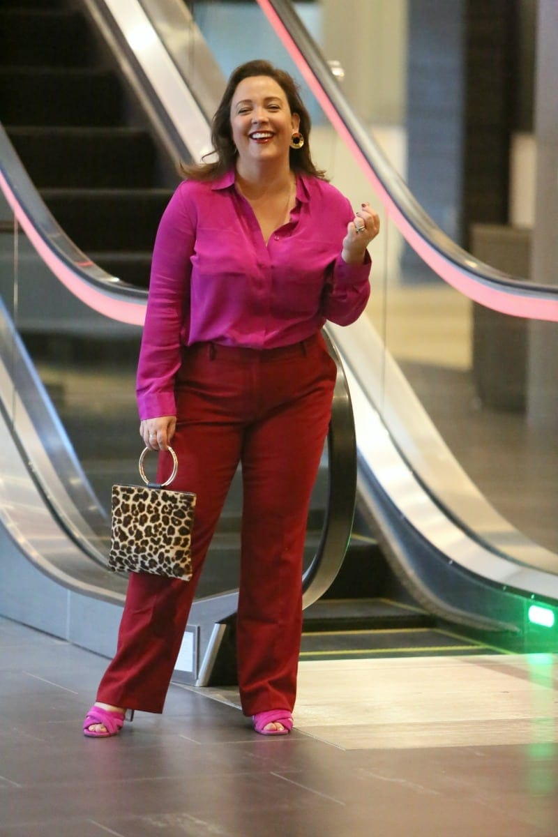 talbots red pants