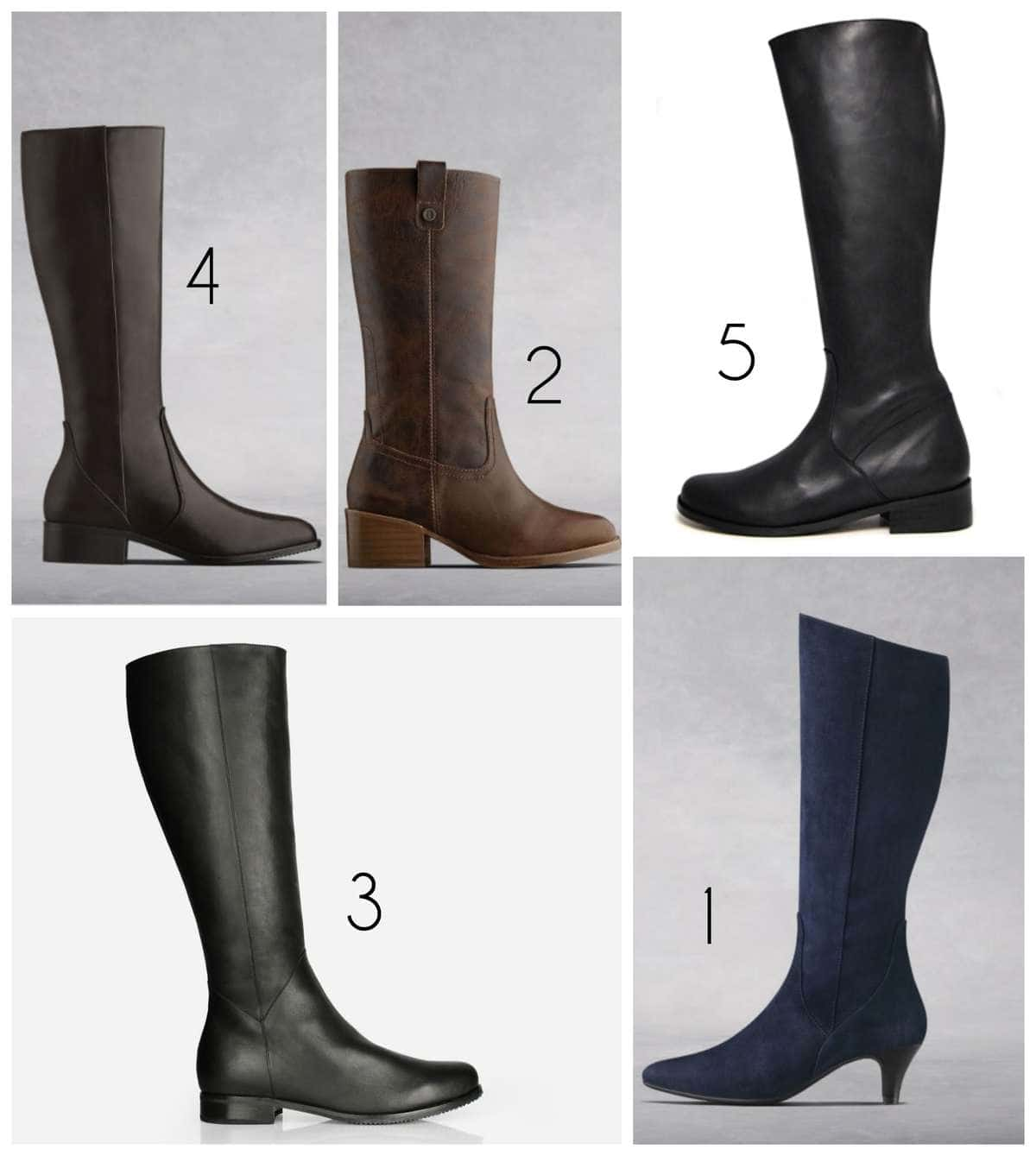 the most stylish wide calf boots including options for petite legs