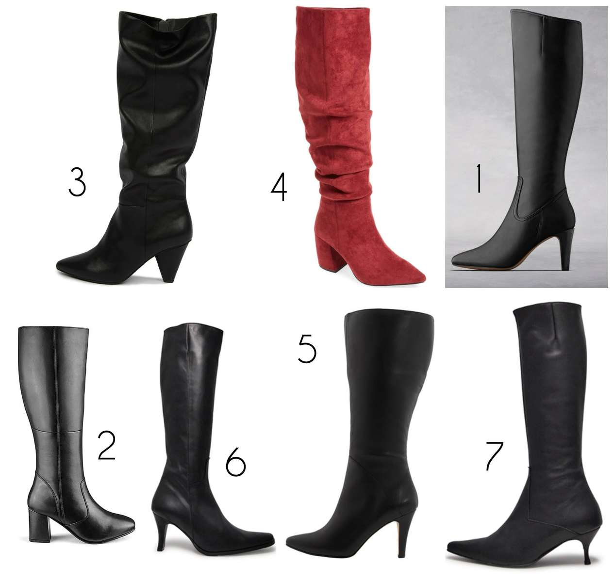 the most stylish wide calf boots with heels perfect for dressier situations or work