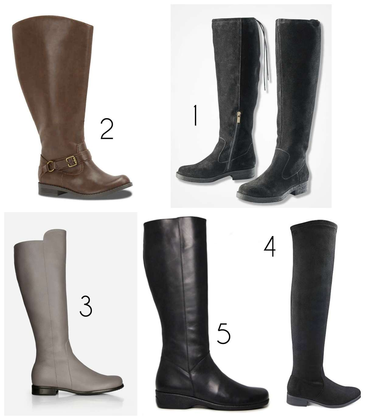the most stylish wide calf boots with wider calf shaft circumference