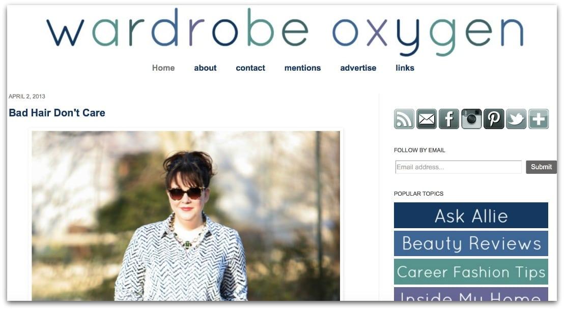 wardrobe oxygen 2012