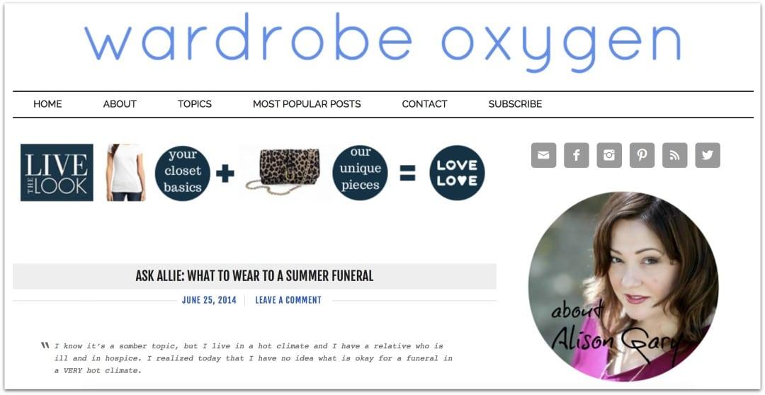 wardrobe oxygen 2014