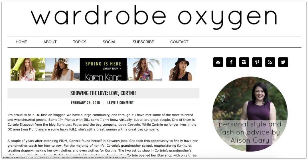 wardrobe oxygen 2015