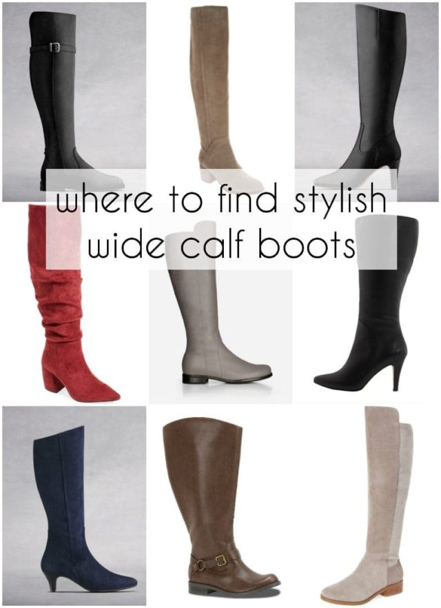 73349cc0675a Where to Find Stylish Wide Calf Boots