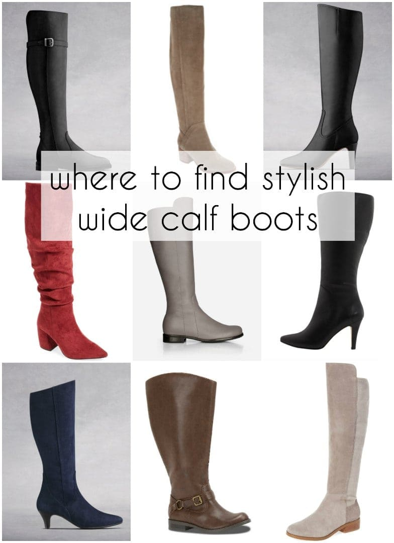 where to find stylish wide calf boots