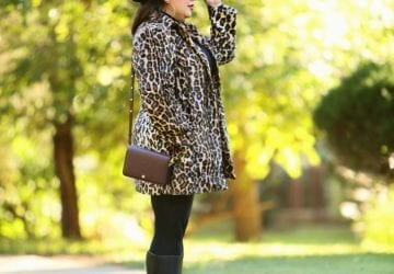 What I Wore: Chico's Leopard Print Faux Fur Coat