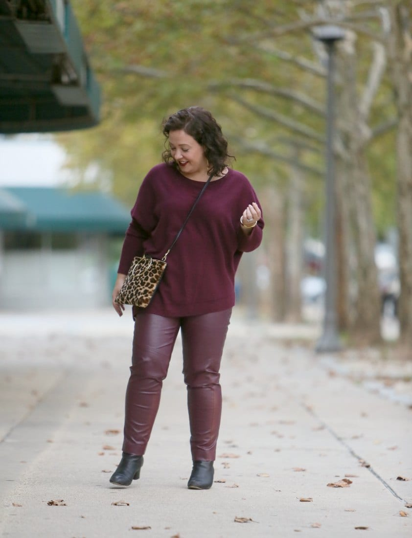 chicos faux leather pants