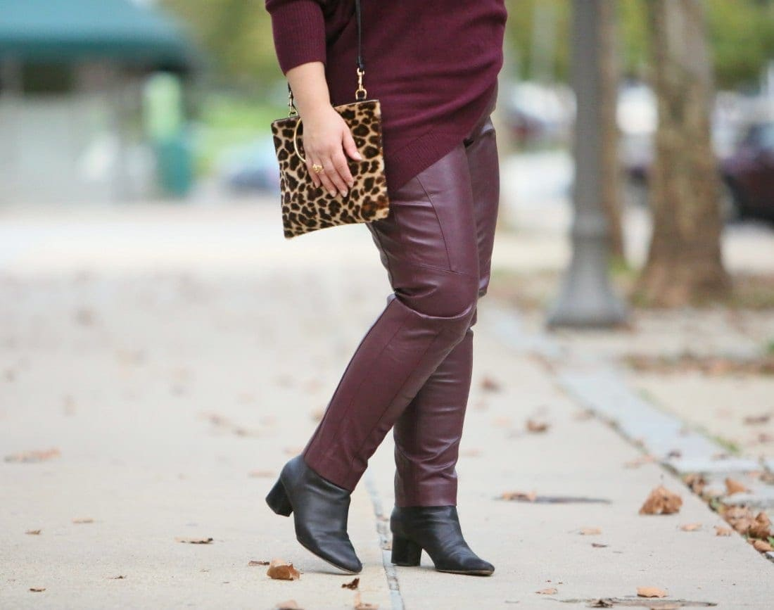 chicos leather pants