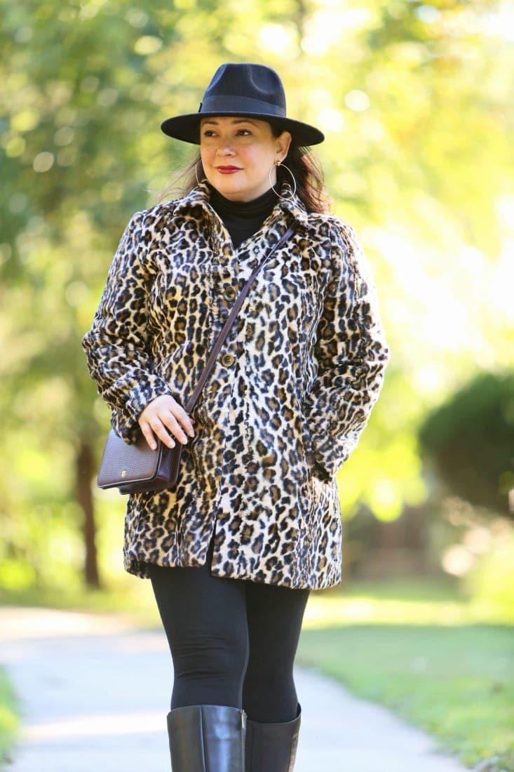 chicos leopard coat