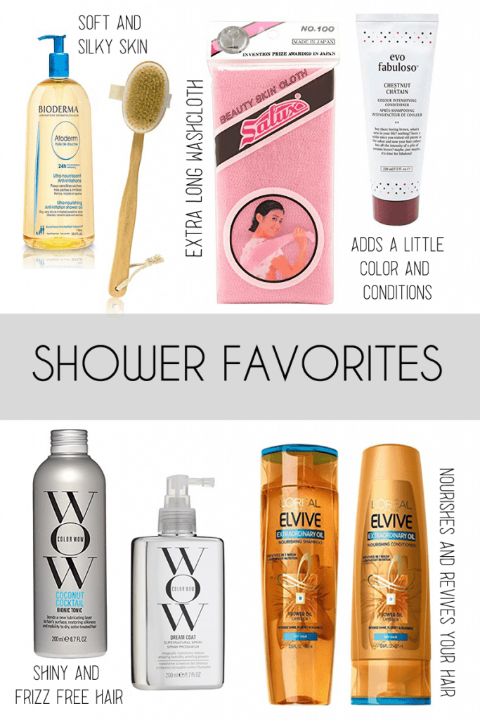 favorite shower products
