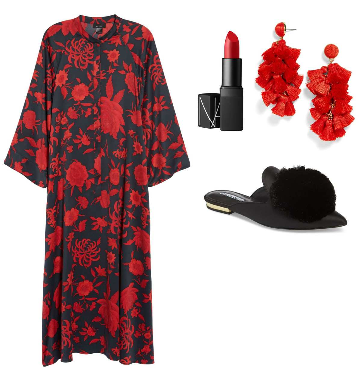 What to wear when hosting a party - consider a caftan for comfortable glam