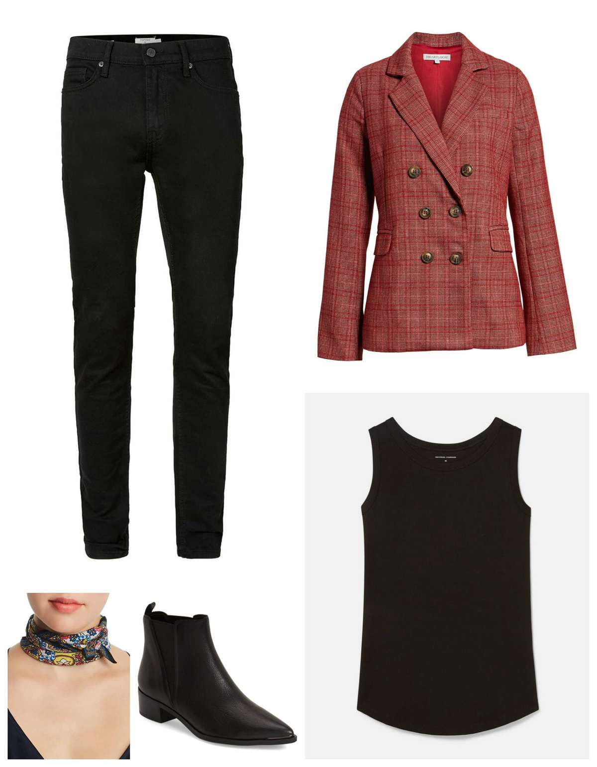 how to style a funky blazer for work
