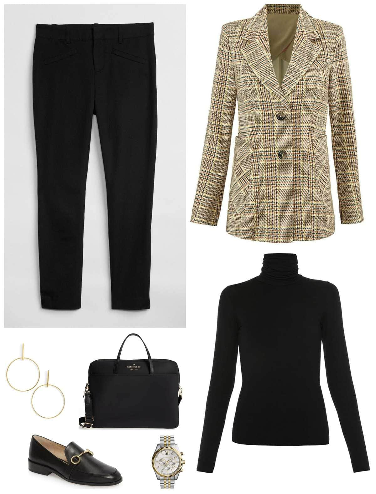 tips on how to style a plaid blazer for fall for work