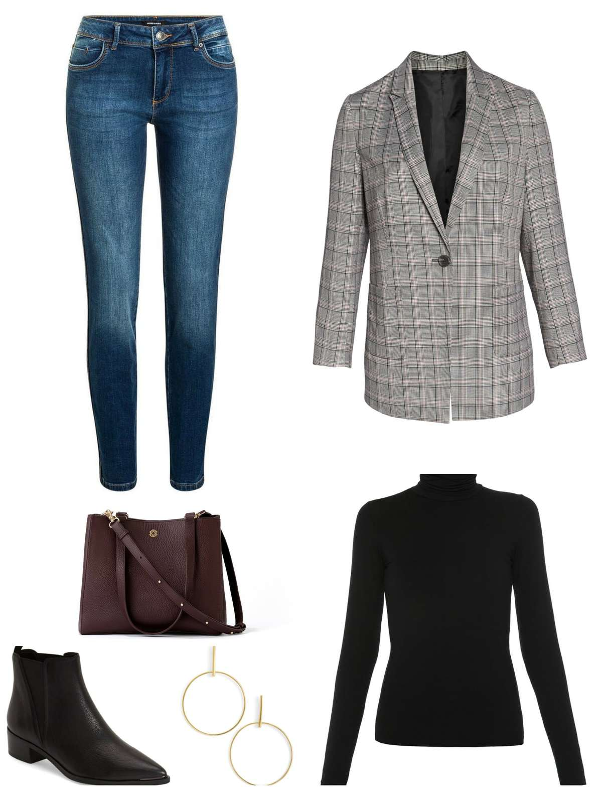 tips on how to style a plaid blazer for fall for casual Friday