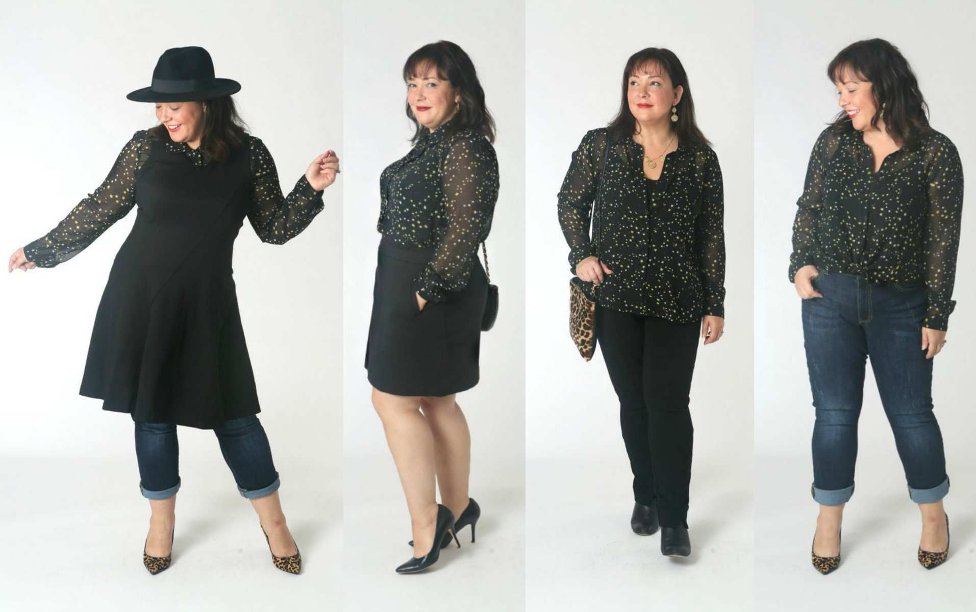 how to style the cabi galaxy blouse