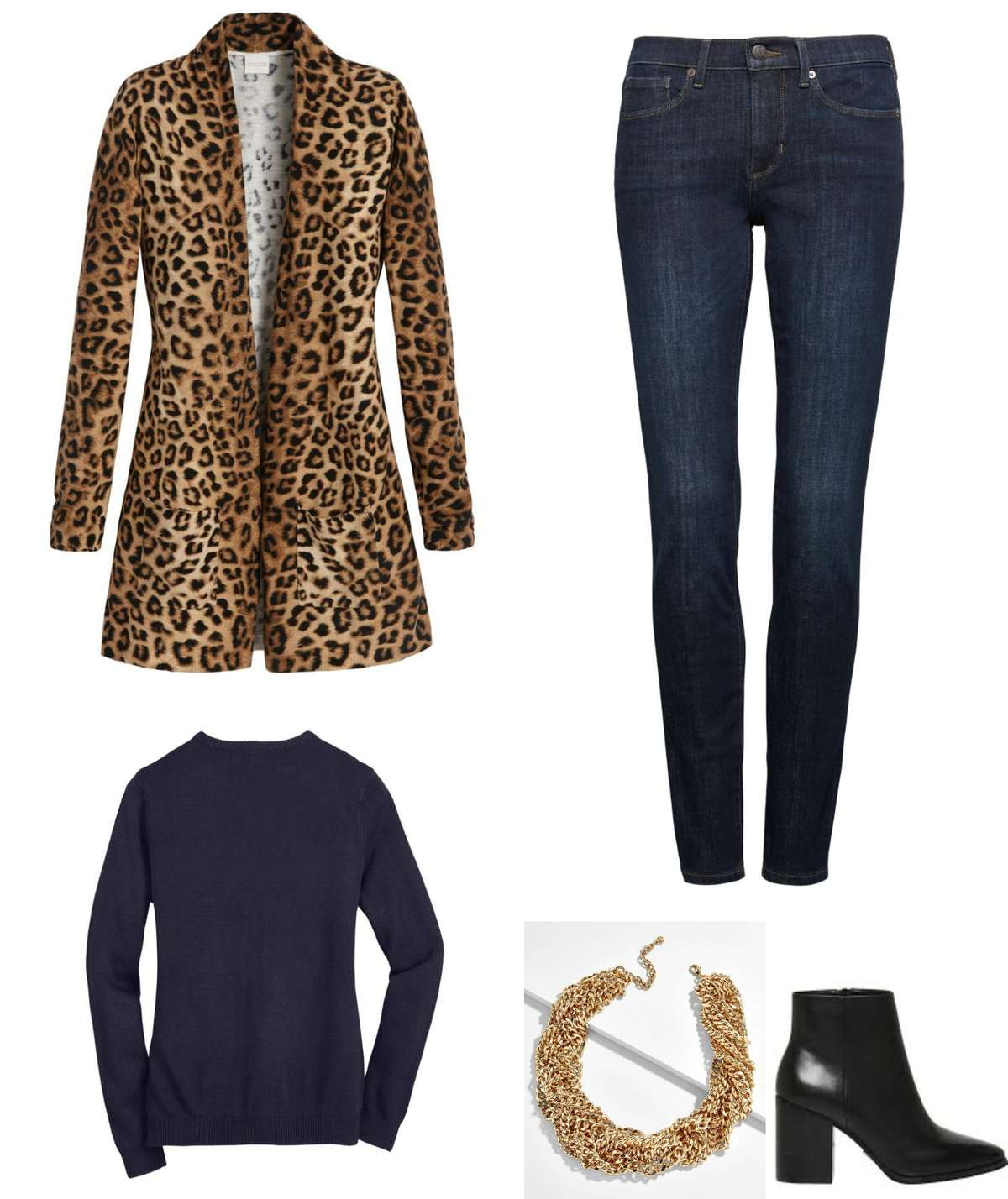 leopard navy and black