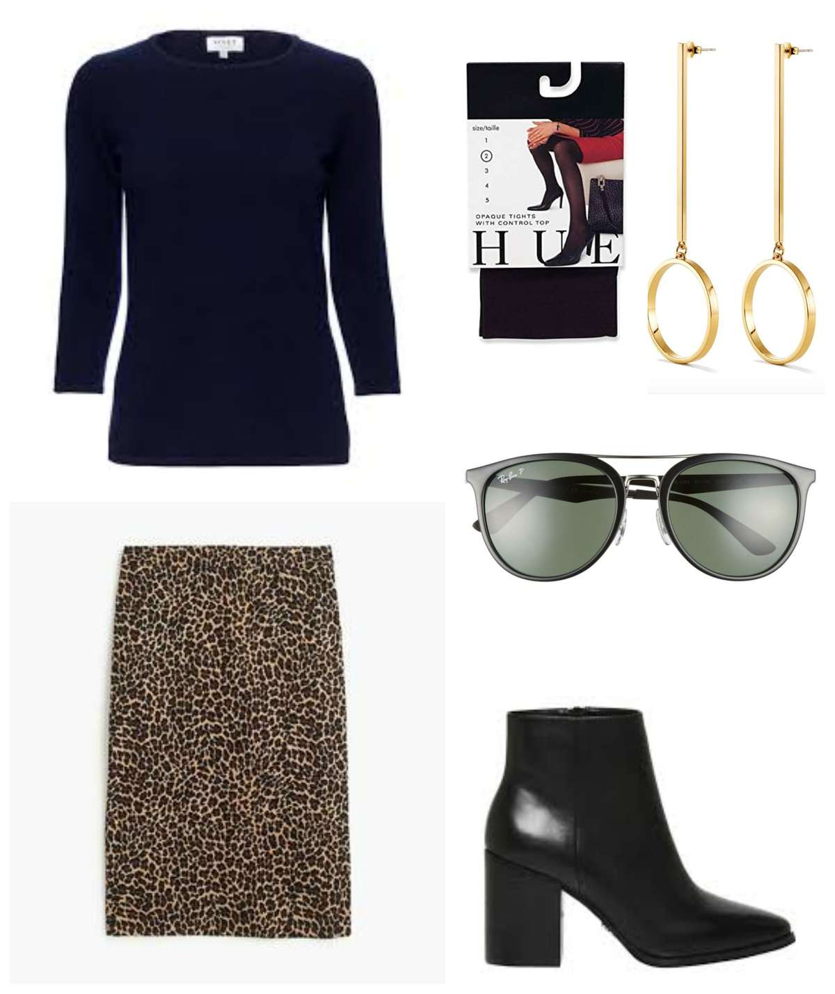 leopard with navy and black