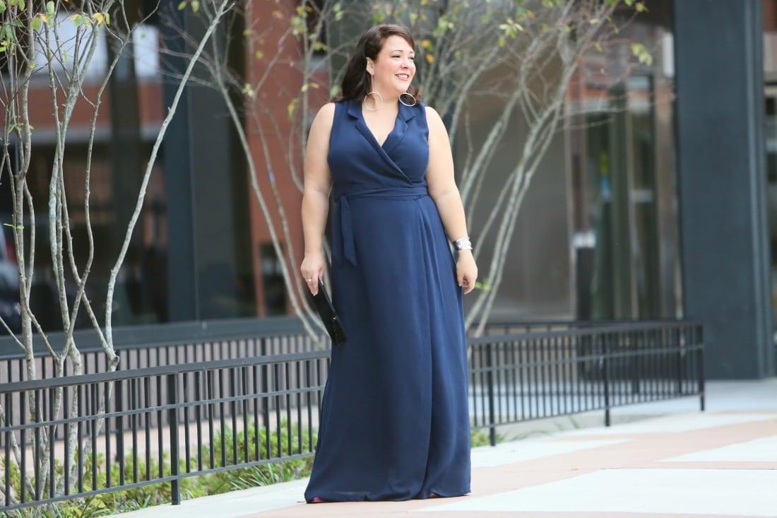 navy sleeveless maxi dress