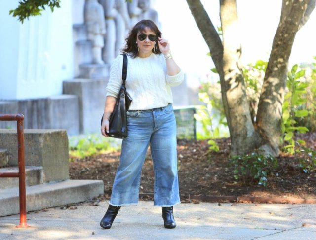 How to style cropped wide-leg jeans