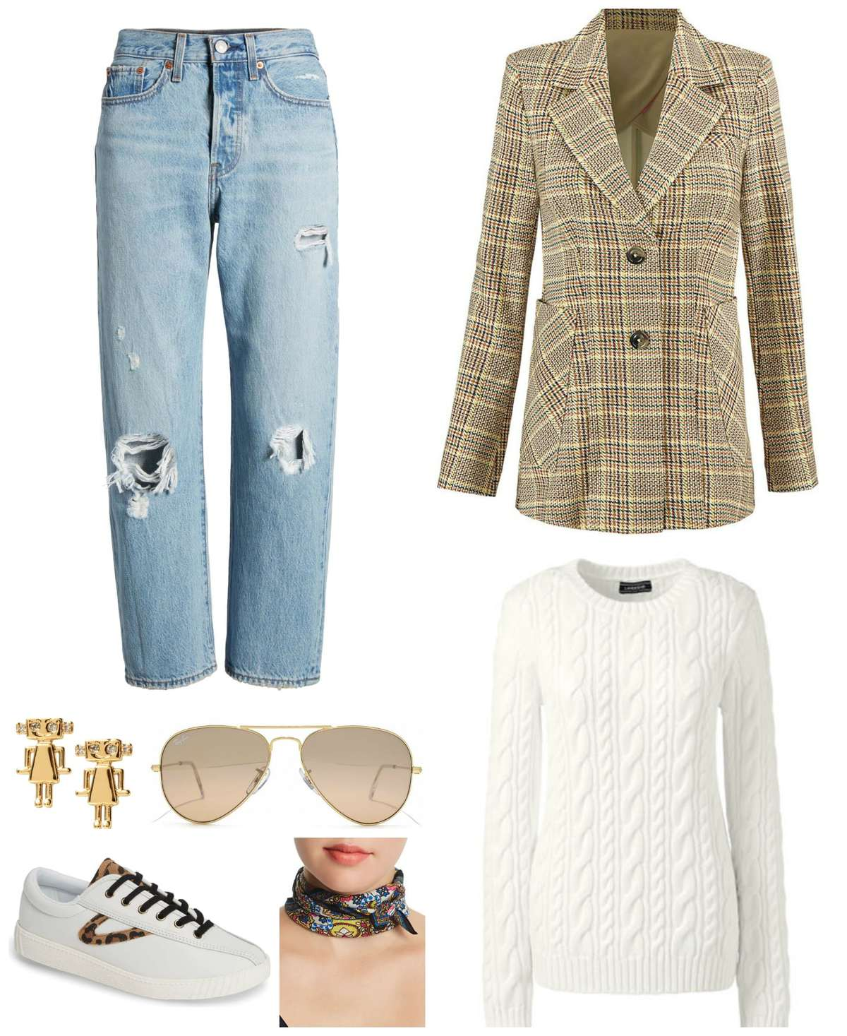 tips on how to style a plaid blazer for fall for weekend